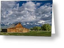 Moulton Barn Morning Greeting Card