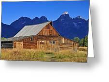 Moulton Barn Sunrise Greeting Card