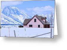Moulton House In Winter Greeting Card