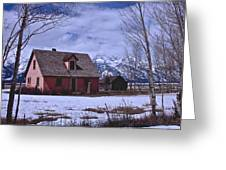 Moulton's Pink House On Mormon Row Greeting Card