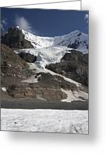 Mount Andromeda And Athabasca Glacier Greeting Card