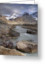 Mount Athabasca At Sunset Jasper Greeting Card