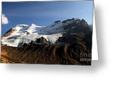 Mount Athabasca From The Columbia Icefields Greeting Card