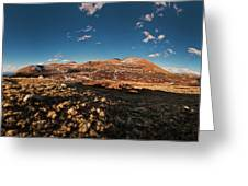 Mount Bierstadt Panorama Greeting Card by Richard Steinberger