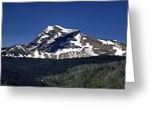 Mount Geduhn Livingston Range Glacier National Park Usa Greeting Card