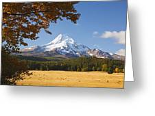 Mount Hood And Autumn Colours In Hood Greeting Card