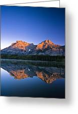 Mount Kidd Reflected In Wedge Pond Greeting Card