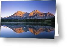 Mount Kidd, Wedge Pond, Kananaskis Greeting Card