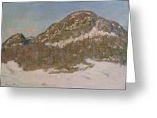 Mount Kolsaas In Sunlight Greeting Card