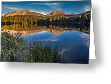 Mount Lassen Reflecting 2 Greeting Card