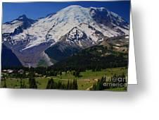Mount Rainier Again Greeting Card