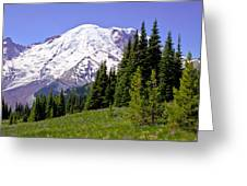 Mount Rainier X Greeting Card