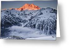 Mount Rolleston In The Dawn Light Greeting Card