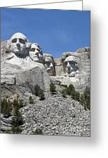 Mount Rushmore Vertical Greeting Card