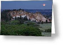 Mount Saint Francis And The Super Moon Greeting Card
