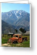 1941 Willys Week End Project Under Mount San Jacinto  Greeting Card
