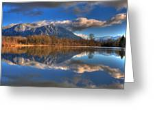 Mount Si Reflection Greeting Card