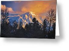 Mount Si Winter Wonder Greeting Card