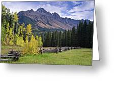 Mount Sneffels And Fence Greeting Card
