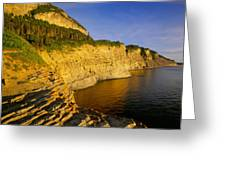 Mount St Alban Cliffs At Sunset Greeting Card