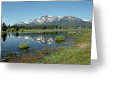 Mount Tallac Sky Projections Greeting Card