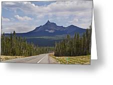 Mount Thielsen Greeting Card