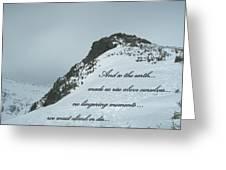 Mount Washington Climb Greeting Card