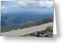 Mount Washington New Hampshire Auto Road Views Greeting Card