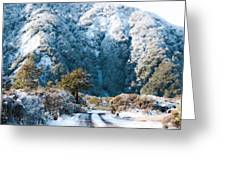 Mountain And Ice Greeting Card