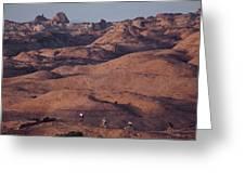 Mountain Bike Riders On Slickrock Trail Greeting Card by Joel Sartore