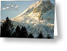 Mountain Christmas 2 Austria Europe Greeting Card