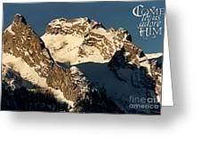 Mountain Christmas Austria Europe Greeting Card