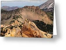 Mountain Climber Greeting Card