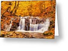 Mountain Creek Falls Greeting Card