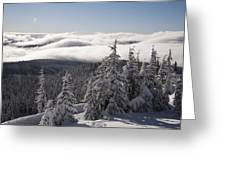 Mountain During Winter Greeting Card