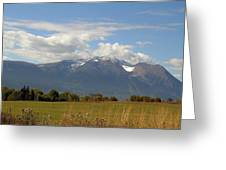 Mountain Field Greeting Card