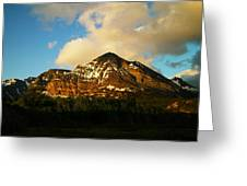 Mountain In The Morning Greeting Card