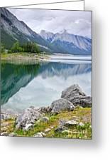 Mountain Lake In Jasper National Park Greeting Card by Elena Elisseeva