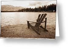 Mountain Lake View Greeting Card