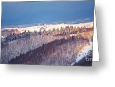 Mountain Landscape In Brasov County Greeting Card
