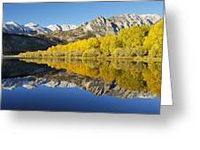 Mountain Mirrored By Lake Greeting Card