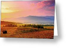 Mountain Morning Farm In Cades Cove Greeting Card