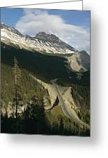 Mountain Peaks Along The Icefields Greeting Card