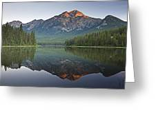 Mountain Reflection, Pyramid Mountain Greeting Card