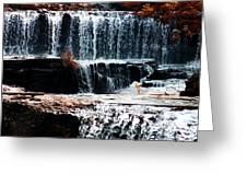 Mountain Stream Waterfall Greeting Card