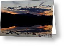 Mountain Sunset Reflection Greeting Card
