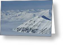 Mountains And Glaciers Near Ny Alesund Greeting Card