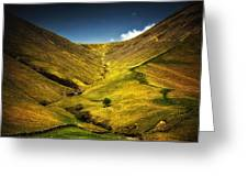 Mountains And Hills Greeting Card
