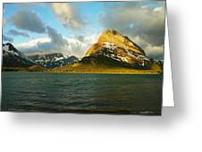 Mountains At Many Glacier Greeting Card