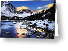 Mountains In The Winter Greeting Card